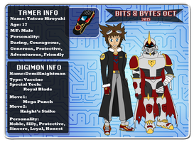 Bits and Bytes App: Tatsuo and DemiKnightmon by Omnimon1996