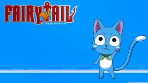 Fairy Tail: Happy wallpaper by Toreshii-Chann