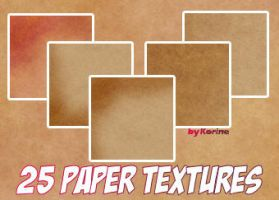 25 Paper Textures by KorineForever