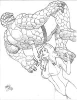 She-Hulk and The Thing by CoonDog69