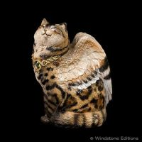 Brown Bengal Winged cat by Reptangle