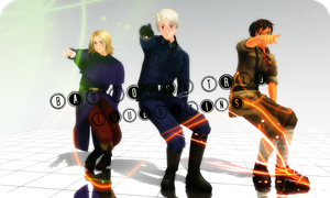[MMDVideo]Bad Touch Trio - : L O U B O U T I N S : by ppgluver125