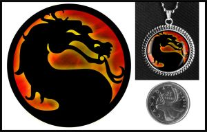 Mortal Kombat Glass Necklace by iceSylum