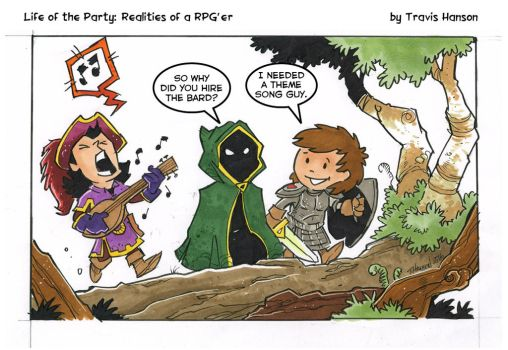 Bards are the theme song guys - rpg comic by travisJhanson