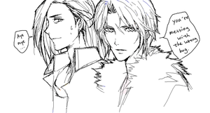 Laguna and Squall-Oekaki by shell0823