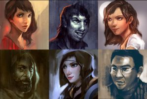 Face Sketches by KM33