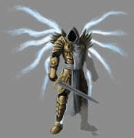 Tyrael sketch by mykmykmyk