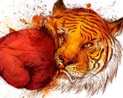 TIRED OF THE TIGER FACE by Winter-artwork