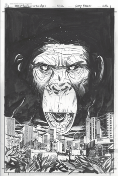 SDCC Dawn of the Planet of the Apes inks by thisismyboomstick