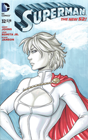 Powergirl blank cover by AerianR