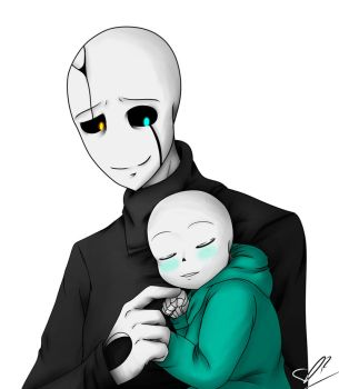 Baby Sans And Gaster by Bat-Gamb