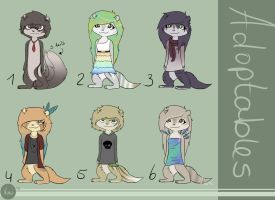 ADOPTABLES! CLOSED by Amy1Jade2Wendy3