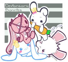 Gifties for some bunnies on DA by cutiepop