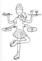 Shiva the Waitress by sugarcub