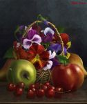 still-life with sweet cherry by IgnisFatuusII