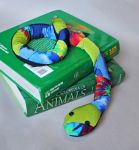 Green Patchwork Book Sock Snake! by Madelei