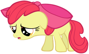 Sad Applebloom Vector by Togekisspika35