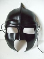 Roman Helmet Leather Mask by Lara-Mila