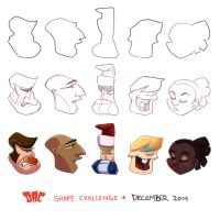 Shape Challenge December 2014 by coda-leia