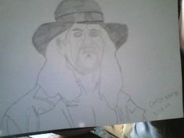 WWE Undertaker Drawing ( Not Finished ) by Angelicsweetheart