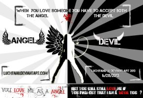Angel And Demon By Luchyanu @ 2013 by Luchyanu
