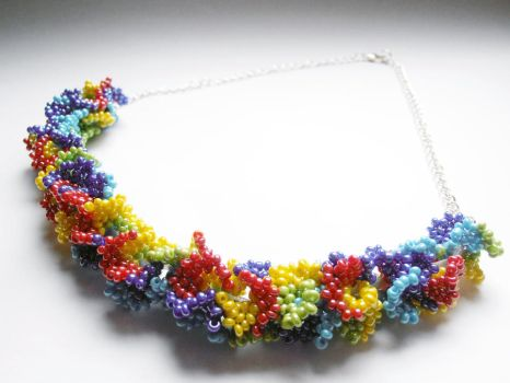 Rainbow necklace by Trelela