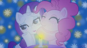 Rarity and Pinkie Pie by ladypixelheart