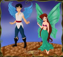 Ariel and Eric Pixies 1 by Arimus79