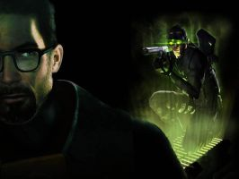 Sam Fisher VS Gordon Freeman 2 by LidiaForza