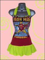 Iron Man T Shirt Upcycle/Reconstruction by Lolanova