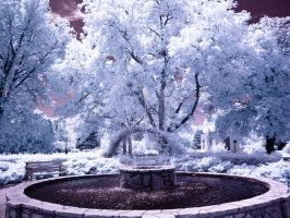 Infrared fountain 2 by Pennes-from-Heaven