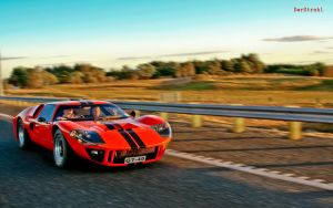 Ford GT 40 Mark II running by DerStrahl