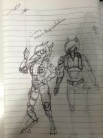 Pre-Cronis vs Post-Cronis comparison[rough sketch] by LeoCronis