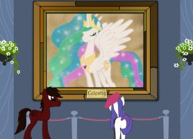 In the Canterlot Museum by SharpTone