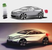Mercedes A-class Coupe [making of] by GLoRin26