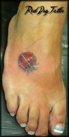 Mini Ladybug Tattoo by Reddogtattoo