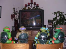 The TMNT Watching Their Show by nintendomaximus