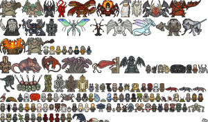 Dark souls enemies by ServantofEntropy