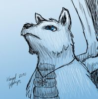 White Wolf Sketchy by WingedZephyr