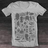 T-shirt Born to rock grey by pilife