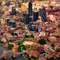 Aerial map, London - 5-2 by jup3nep