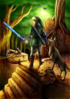 Commission: Link and Dog by Fenrisfang