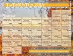 NaNoWriMo 2014 Calendar by WalkingInDarkness737