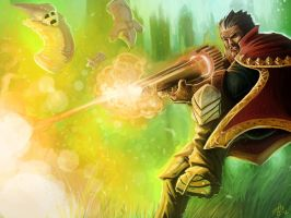 Graves Golden Gun by ZachDB