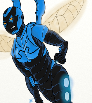 Blue Beetle Request by BeingOfNature