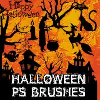 Halloween Photoshop Brushes by petermarge