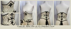 BlackCream Fleur-de-Lis Corset by taeliac