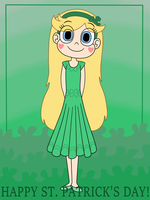 Star Butterfly wears too green dress by Deaf-Machbot
