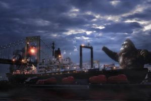 King Kong In Throgs Neck by bobbyboggs182