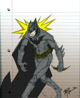 Batman On Notebook by GuitarAtomik